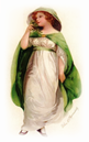 St. Patricks Day woman in green cape free clip art