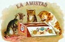 vintage cat clip art la amistad cigar label with three cats