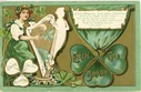 vintage Irish lass on free St. Patricks day greeting card