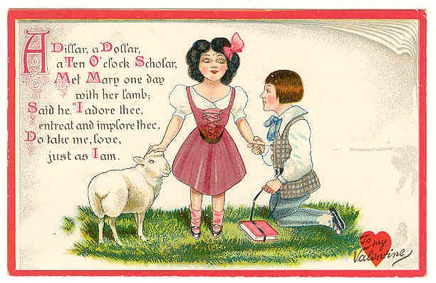 ... Vintage Valentines Day Card Happy Couple A Dillar A Dollar And Lamb ...
