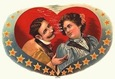 vintage Valentine's Day clip art couple smoking