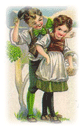 free vintage st patricks day clip art little Irish boy and girl