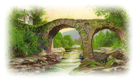 old weir bridge Killarney Ireland St. Patricks day clip art