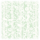 Floral white and green striped vintage scrapbook paper