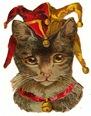 free vintage cat clip art court jester