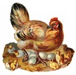 free vintage chicken and baby chicks Easter clip art