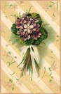 free vintage mothers day cards purple flower nosegay