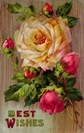 free vintage mothers day cards yellow pink roses