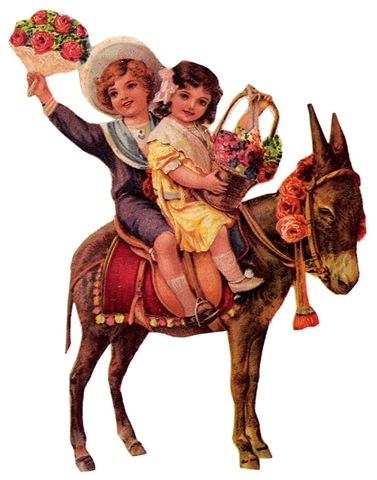 http://vintageholidaycrafts.com/wp-content/uploads/2009/04/free-vintage-children-clip-art-boy-and-girl-on-a-donkey-with-flowers.jpg
