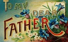 free vintage fathers day cards to my dear father flowers