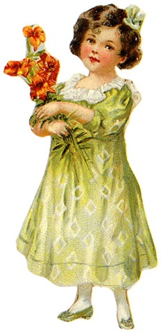 http://vintageholidaycrafts.com/wp-content/uploads/2009/04/vintage-children-clip-art-little-gilr-green-dress-flower-bouquet.jpg