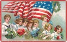 vintage-American-flag-children