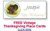 amscan templates place cards - victorian thanksgiving placecards free printable trials