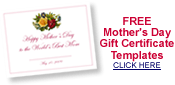 free printable blank certificate templates to be used as gifts for Mother's Day