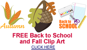 free back to school and fall clipart
