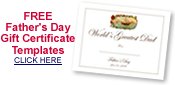 free Fathers Day printable certificates