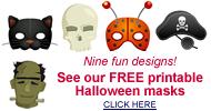 Halloween mask art