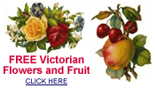 free Victorian flowers and fruit clip art