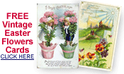free vintage Easter flowers cards