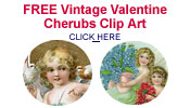 free Valentine angels and cherubs clip art