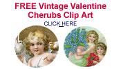 free Valentine angels and cherubs clip art