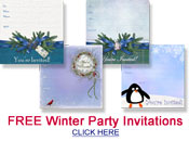 free winter party invitations