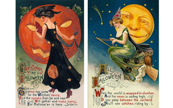 Free Vintage Halloween Cards: Pretty Women