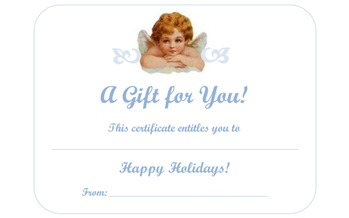 Free Holiday Gift Certificates