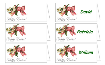 Free Victorian Easter Decorations: Table Place Cards