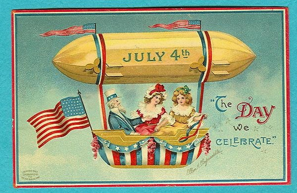 Free 4th of July Vintage Postcards
