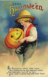 vintage-Halloween-little-boy-carving-pumpkin-card