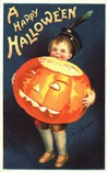 vintage-little-boy-Halloween-pumpkin-postcard