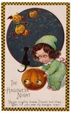vintage-little-girl-flying-pumpkins-black-cat-card