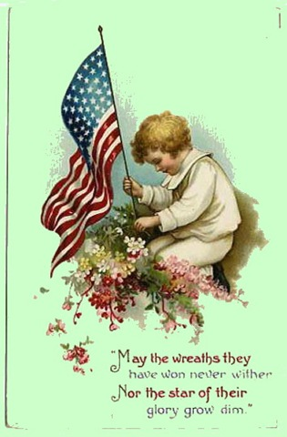Free Vintage Memorial Day And Veterans Day Greeting Cards