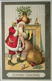 santa-claus-chimney-vintage-holiday-cards