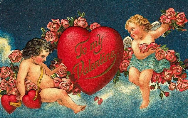 Free Victorian Valentines: Cherubs