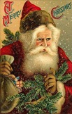 victorian-vintage-santa-claus-pine-toys-snow-greeting-card