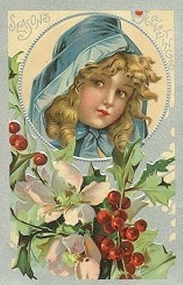 free vintage christmas cards cute kids   vintage holiday