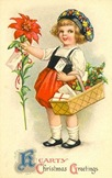 vintage-Dutch-girl-poinsettia-Christmas-card
