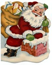 vintage-Santa-Claus-chimney-sack-toys-Christmas-cards