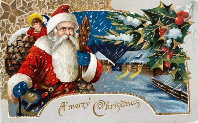 Free Vintage Santa Claus Christmas Cards