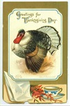 vintage Thanksgiving turkey with tea cup