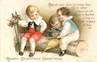 vintage-three-children-Christmas-card