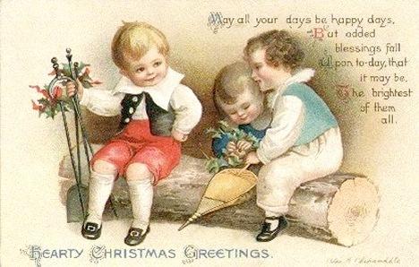 Free Vintage Christmas Cards: Cute Kids