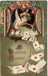 vintage Victorian valentines cupd cherub letters with wings