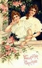 free victorian women vintage valentine card