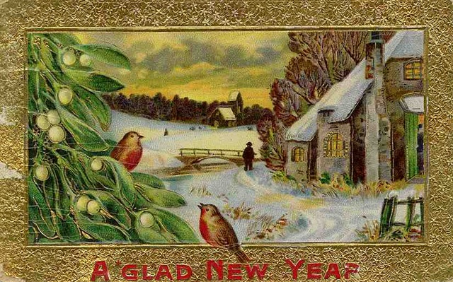 free vintage new year cards vintage holiday crafts