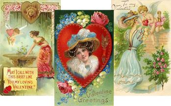 Free Vintage Valentine's Cards: Pretty Women