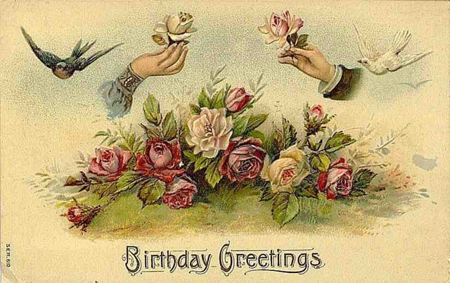 Free vintage birthday cards vintage holiday crafts victorian vintage roses free birthday card birds hands bookmarktalkfo Choice Image