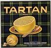 vintage fruit crate label Tartan Brand Corona Foothill Lemon Company